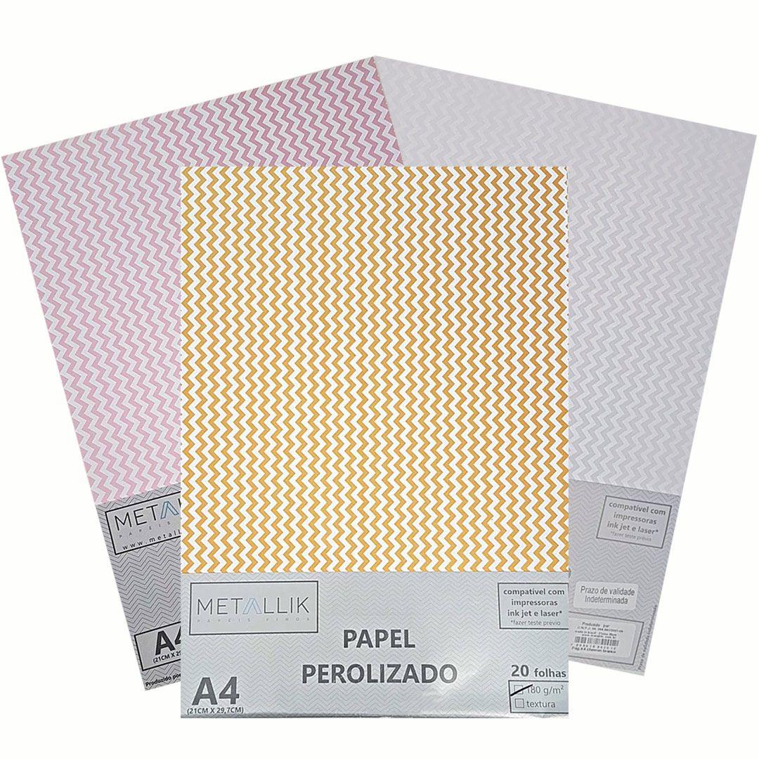 PAPEL PEROLIZADO CHEVRON -  A4 180G