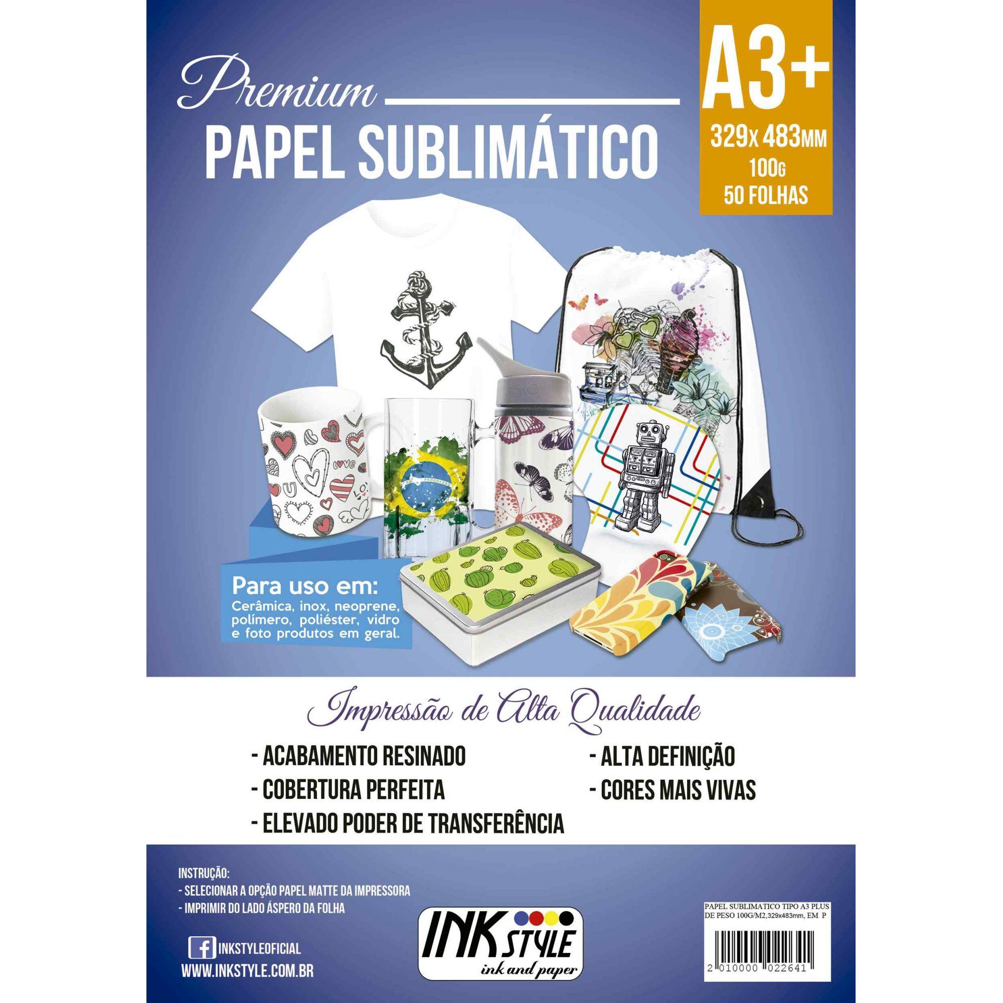 PAPEL SUBLIMÁTICO A3+