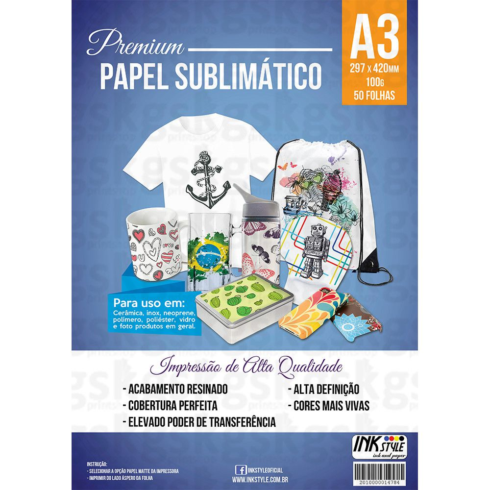 PAPEL SUBLIMÁTICO A4 / A3