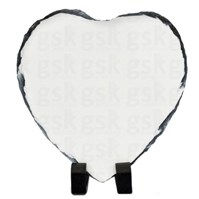 Pedra ardósia - coração 20X20cm