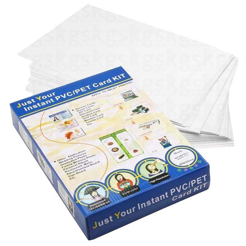 PVC Branco adesivado - para impressora jato de tinta