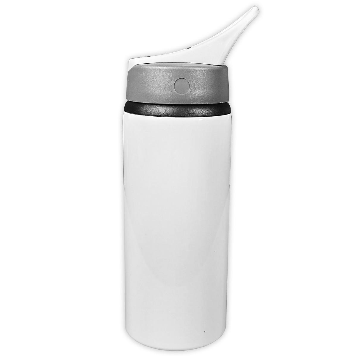 Kit 10 Squeezes Nike branco - 600ml sublimável
