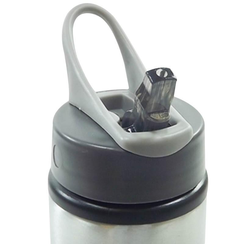 Kit 10 Squeezes Nike prata - 600ml sublimável com caixinha