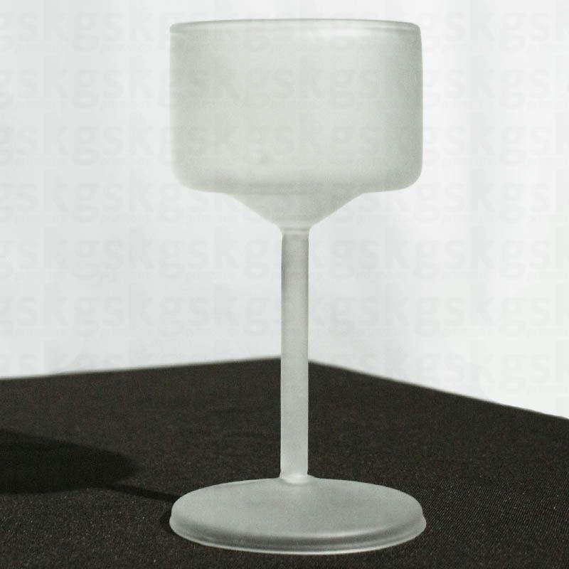 Taça de vidro - jateada