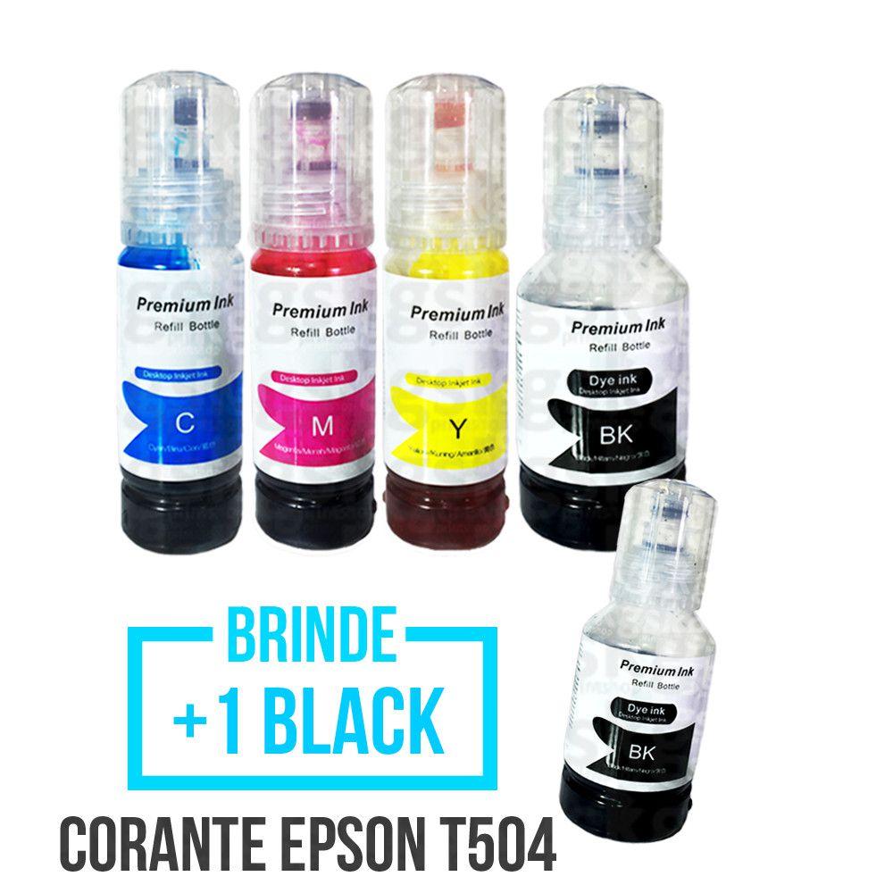 KIT Tinta Corante Epson L Series - 70ml + Brinde