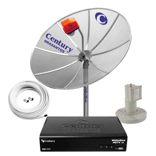 Parabolica Digital Completa Century Antena Banda C Telada