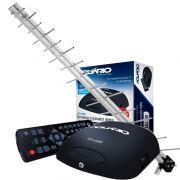 Antena Digital Externa + Conversor Digital Aquário dtv-5000