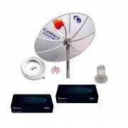 Antena Parabolica Digital Hd Multiponto Completa 2 Midiabox