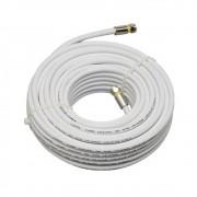 Cabo Coaxial 60% RG6 Cabletech 15m Branco Para Antena Digital