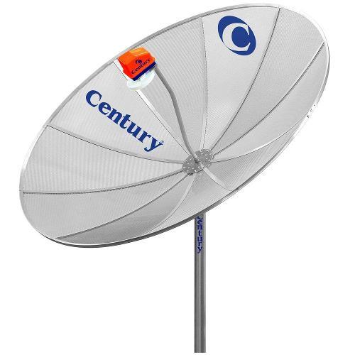 Antena Parabolica Century Multiponto + Receptor Elsys Analogic Digital Hd