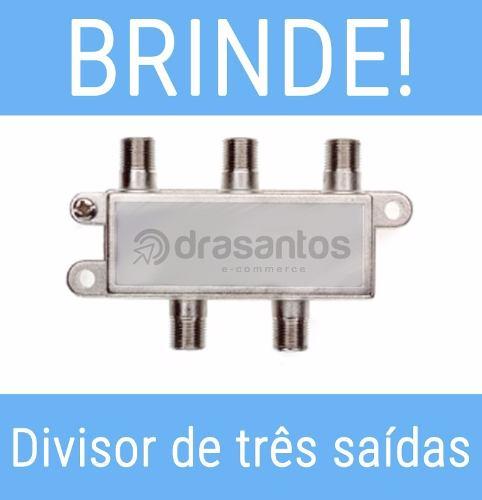 Antena Digital Externa Dtv-3000 Aquário Hdtv 4 Em 1 + Brinde