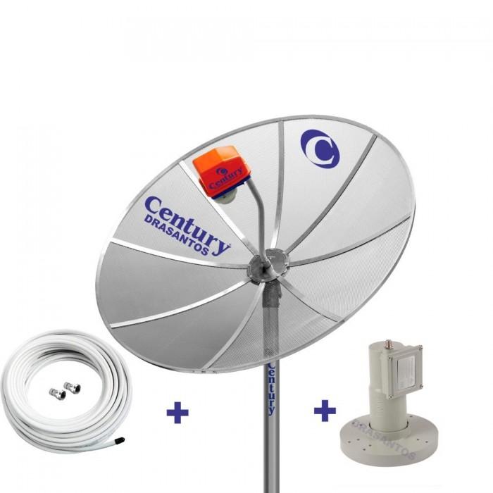 Kit Antena Parabólica Century 170 cm + Lnbf + Cabo