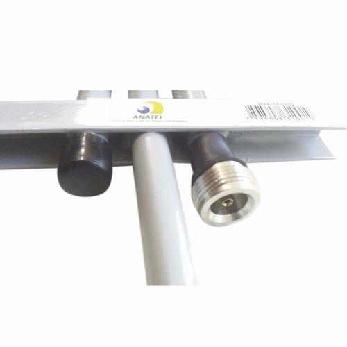 Kit Antena Rural Celular 3g 2g 15 Dbi Quadriband 10mt Cabo
