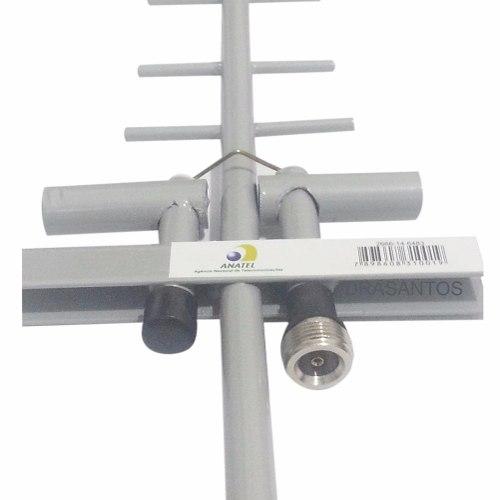 Lote 5  Antena Celular Rural 3g 2g Quadriband 15db + Cabo