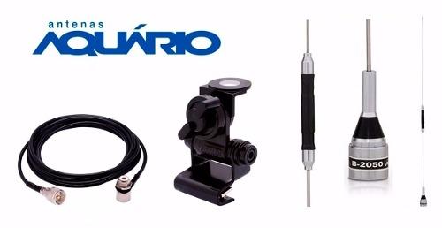 Kit Aquário Antena Px B-2050 P/ Carro + Cabo 5,5m + Suporte