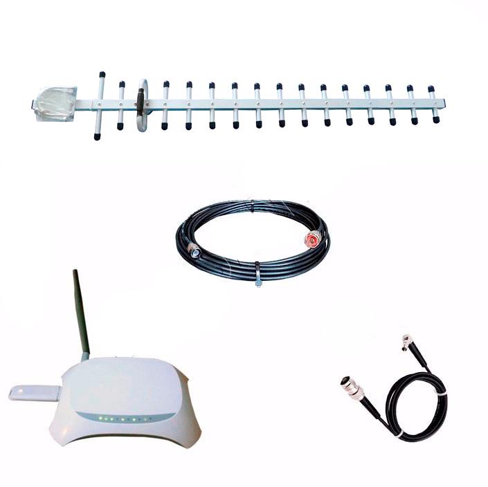 ANTENA COMPLETA GSM TOTAL 800/900/1800/1900 MHZ INTERNET WI FI WIFI 3G RURAL VIA CELULAR + CABO 15  METROS