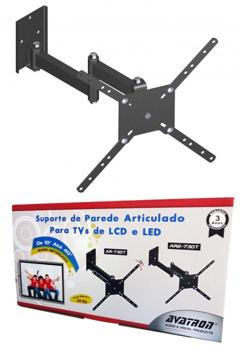 """Suporte De Parede Para Tv BI Articulado para  TVs LCD, LED, Plasma, 4K e Curva de 10"""" até 55"""""""