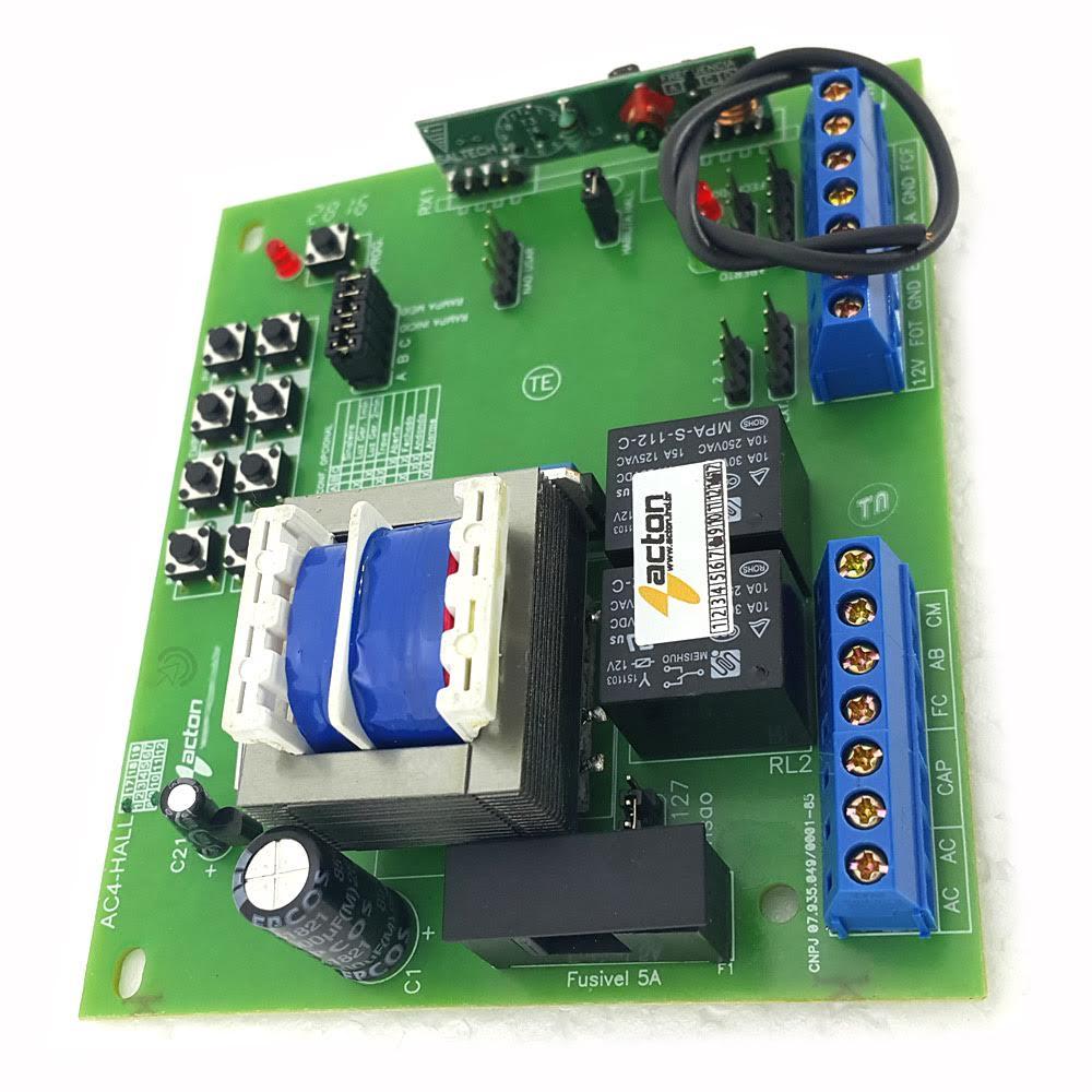 Central Placa Motor portão eletrônico Sensor Hall Deslizante ou Basculante 433Mhz Compatível com Rossi