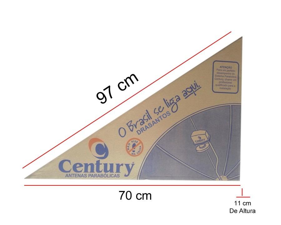 kit de antena parabólica century completa analógica