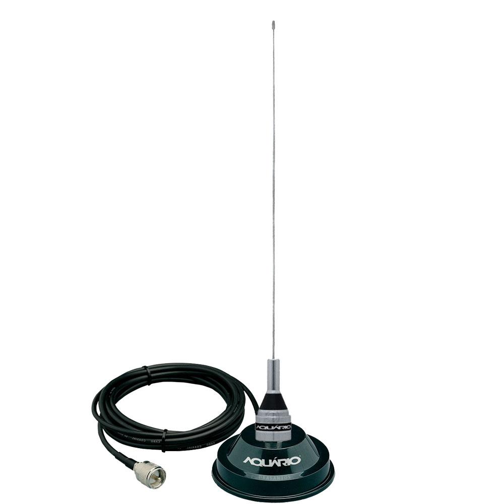 M-300c Antena Móvel 1/4 Vhf 2 Metros + Suporte Imã com 4 metros de cabo