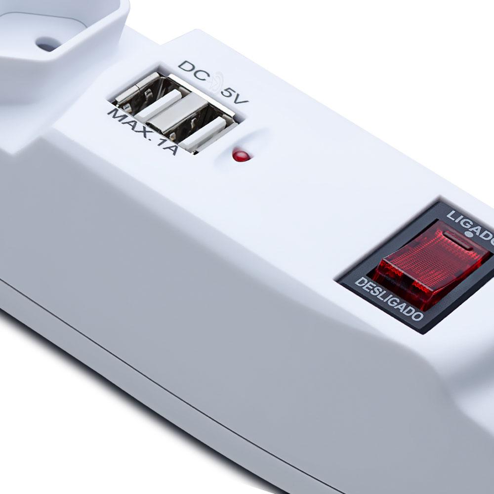 filtro de linha aquario 6 tomada e 2 tomada USB