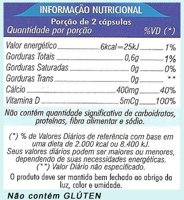 Suplemento de Calcio e Vitamina D3 Para Fortalecer os Ossos