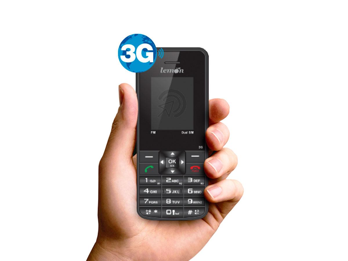 Celular 3g rural dual chip Sensi 754 Lemon com Bluetooth MP3 e MP4 Player Rádio FM Com Fone de Ouvido SuperBass