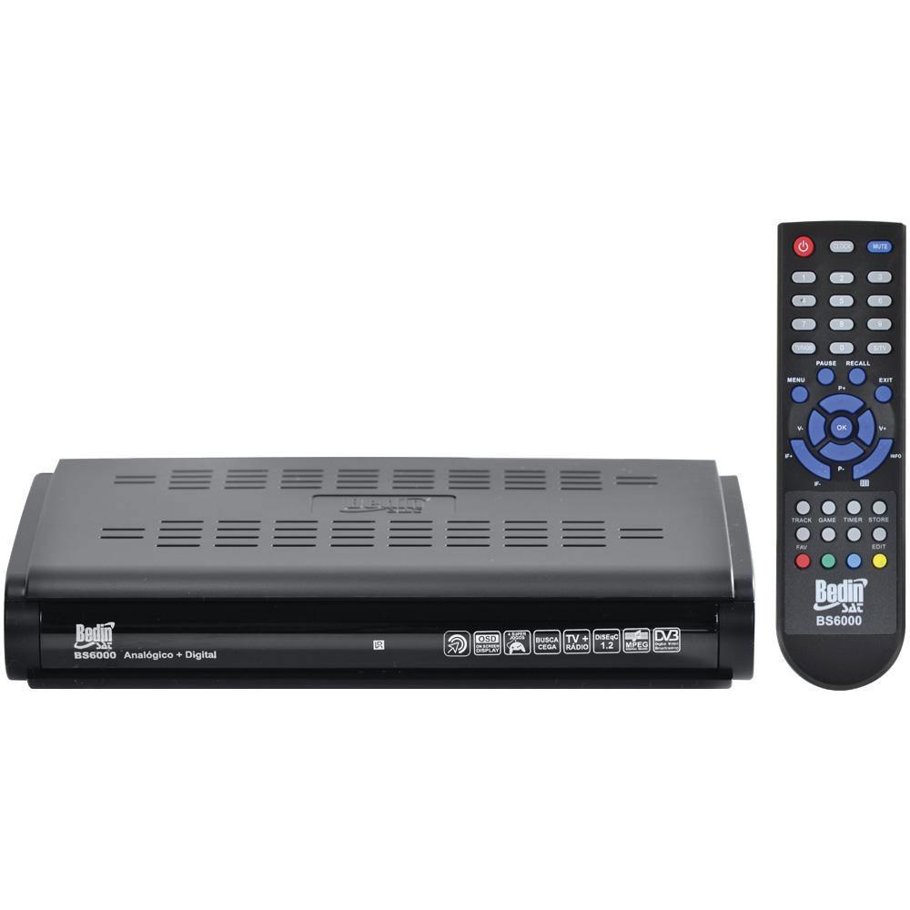 Receptor de Antena Parabólica BS-6000 SD Digital Analógico Anadigi