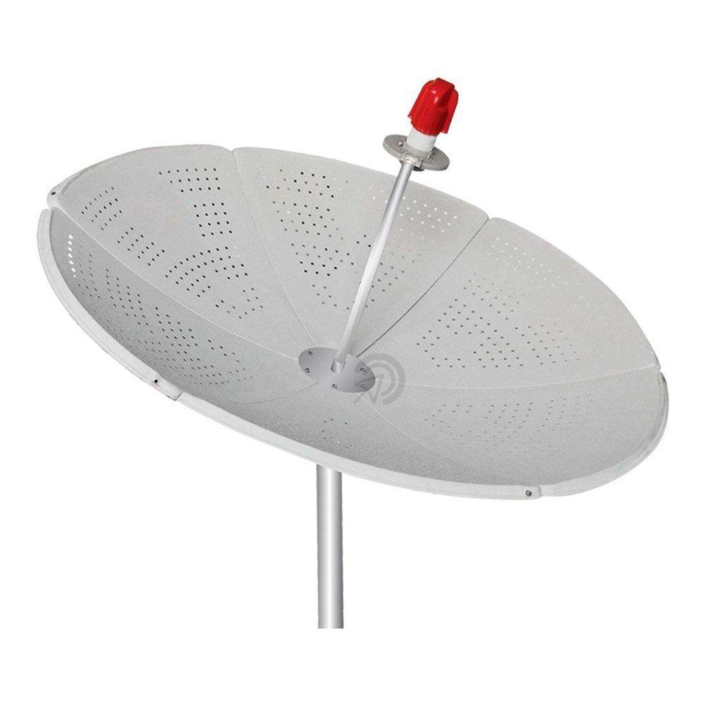 Antena Parabolica Via Satélite Digital HD de Chapa 1,50m 150cm Com Bengala