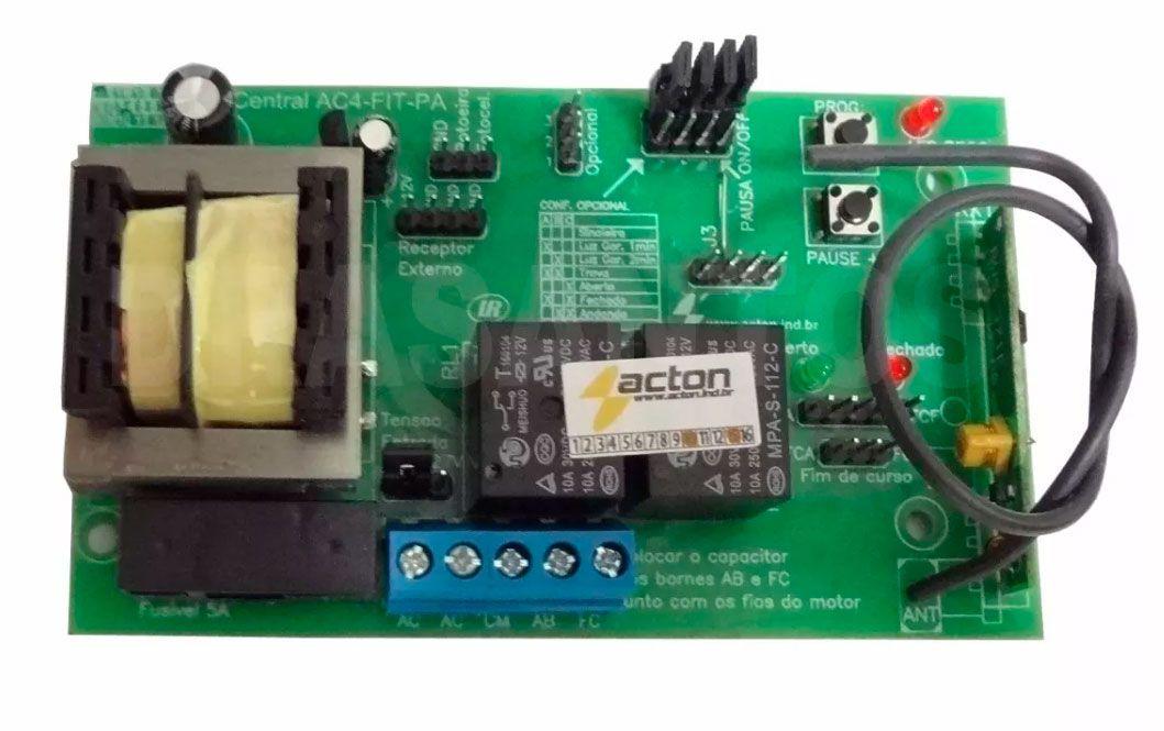 Central Placa Motor portão eletrônico Universal Deslizante ou Basculante