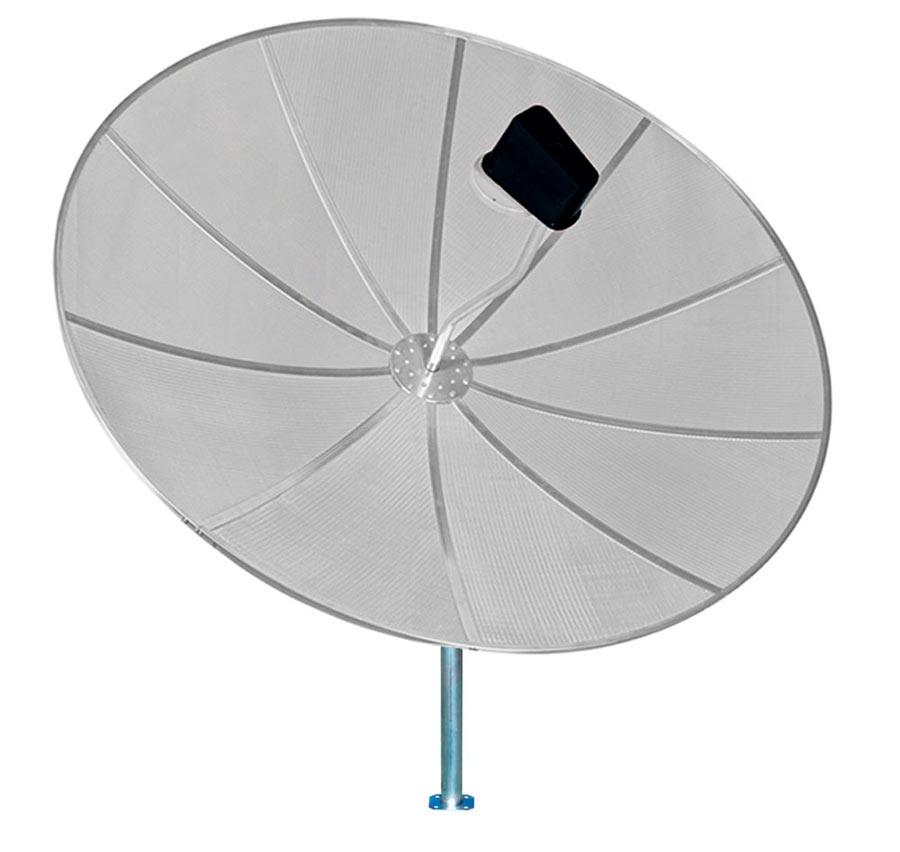Antena Parabólica Banda C Via Satélite 230 cm 2,30 m