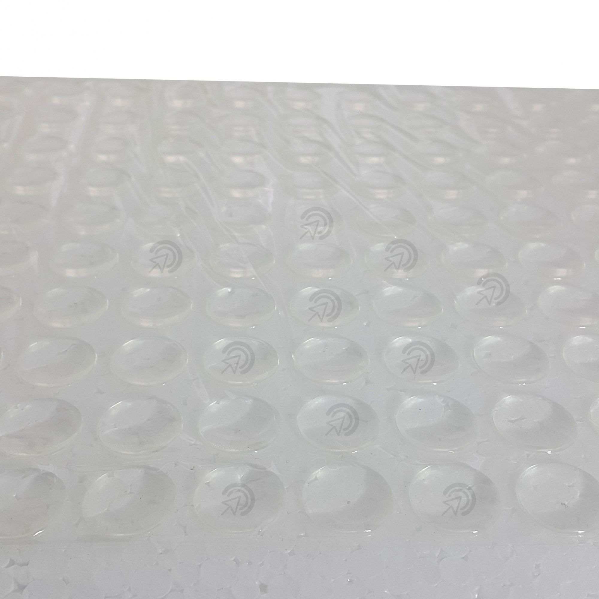 Protetor Batente De Silicone Redondo 15mm Multiuso Com Cola (gotas De Silicone)