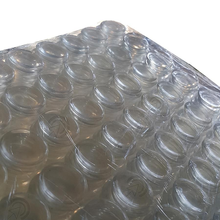 Protetor Batente De Silicone Redondo 20mm Multiuso Com Cola (gotas De Silicone)