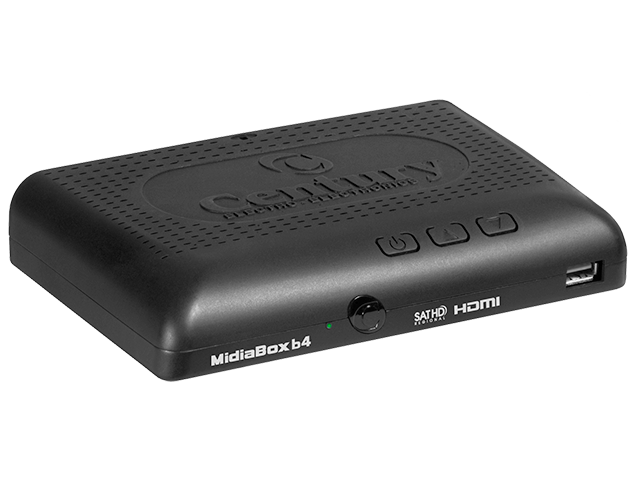 Receptor Digital para antena parabólica MidiaBox HDTVB4