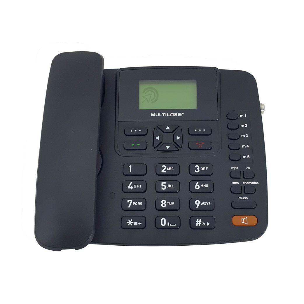 Telefone celular rural fixo de mesa Multilaser 3g 5 bandas e saída para antena externa