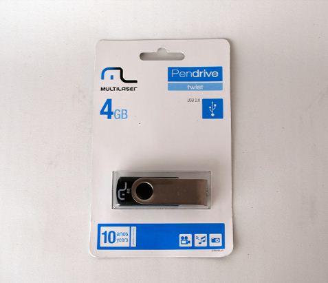 Pen Drive 4GB MultiLaser Twist Preto PD586