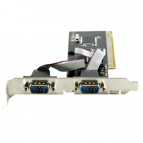 Placa PCI com 2 Portas Seriais RS232 Feasso JPSS-01 Com Perfil Baixo Slim