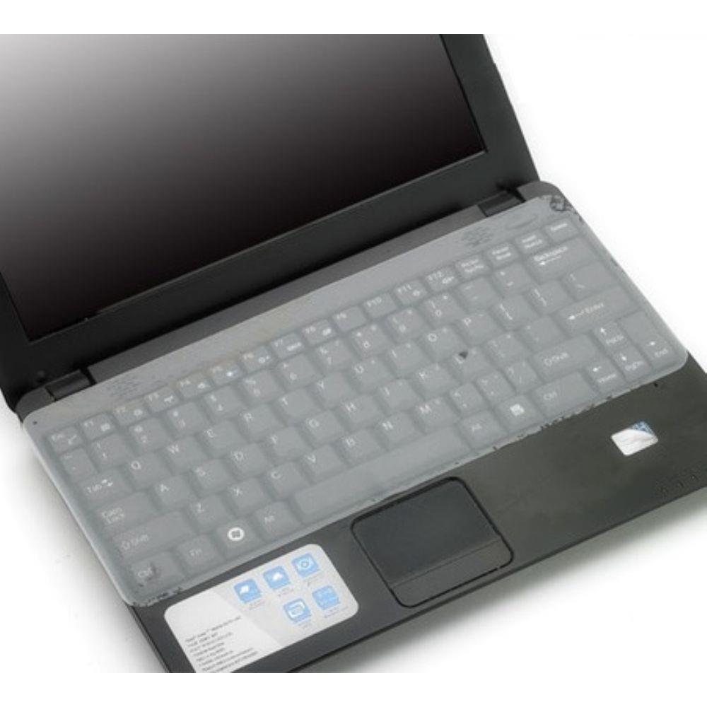 """Película Silicone Transparente Para Teclado de Notebook Até 15"""" Sem Teclado Numérico"""