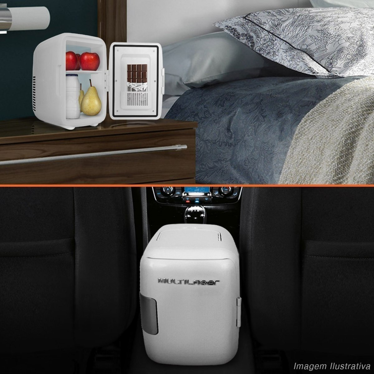 Mini Geladeira Portátil Branca 4 Litros Refrigera e Aquece 220 Volts Multilaser TV010