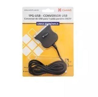 Cabo Conversor de USB para 1 Saída Paralela DB25 Fêmea 1PG-USB Comm5