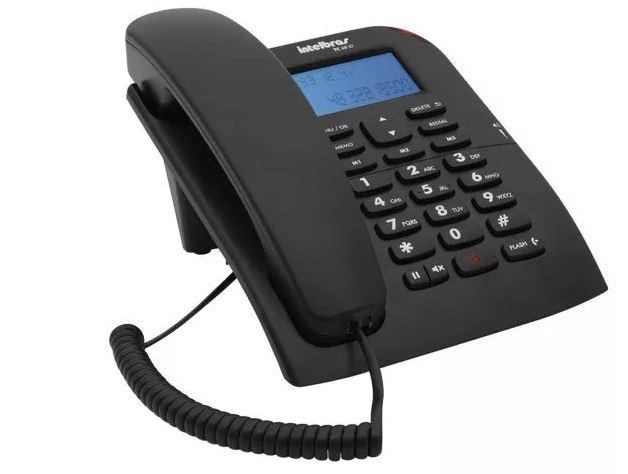 Telefone com Fio Intelbras TC 60 ID Identificador de Chamadas
