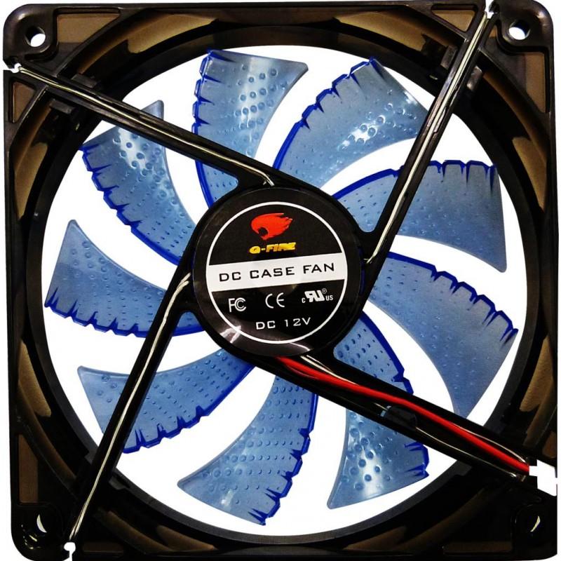 Cooler 120mm 12cm Com Led Azul G-fire para Gabinete E Fonte EW-2252-LGEX