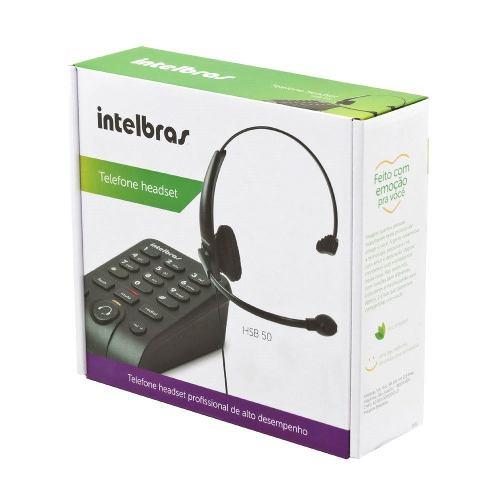 Telefone Headset Intelbras Hsb50 para Telemarketing e Suporte