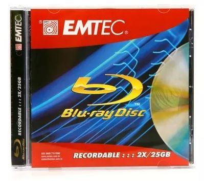 Kit com 2 Mídias Virgens Bluray 25GB 6x Emtec