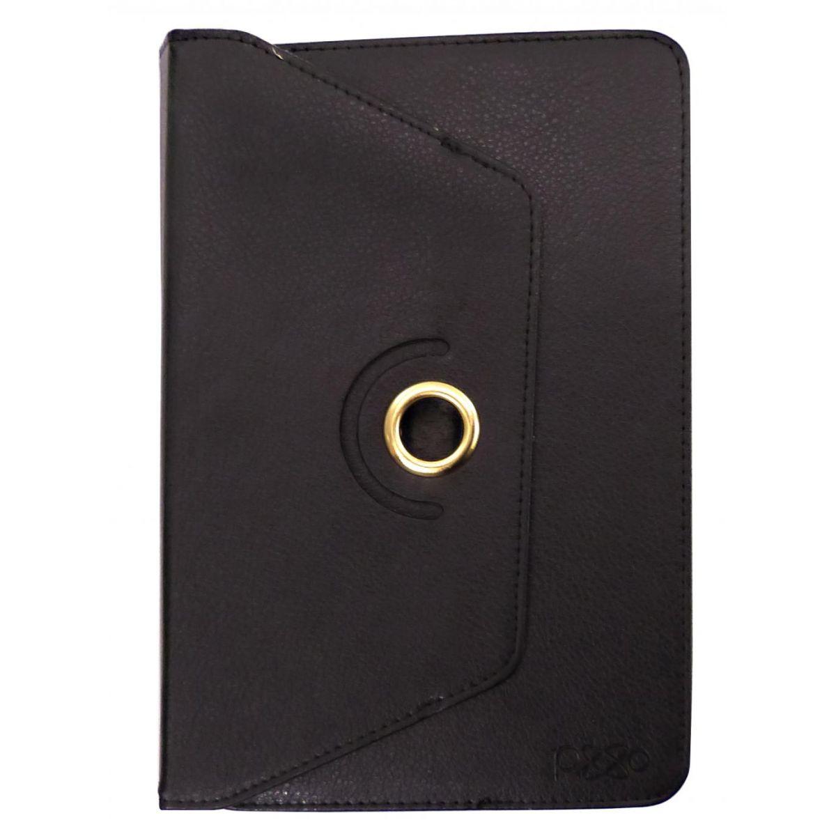 Capa Case em Couro Preto Para Tablet e Ipad 7 a 8 Polegadas Pixxo FC1161BPEB