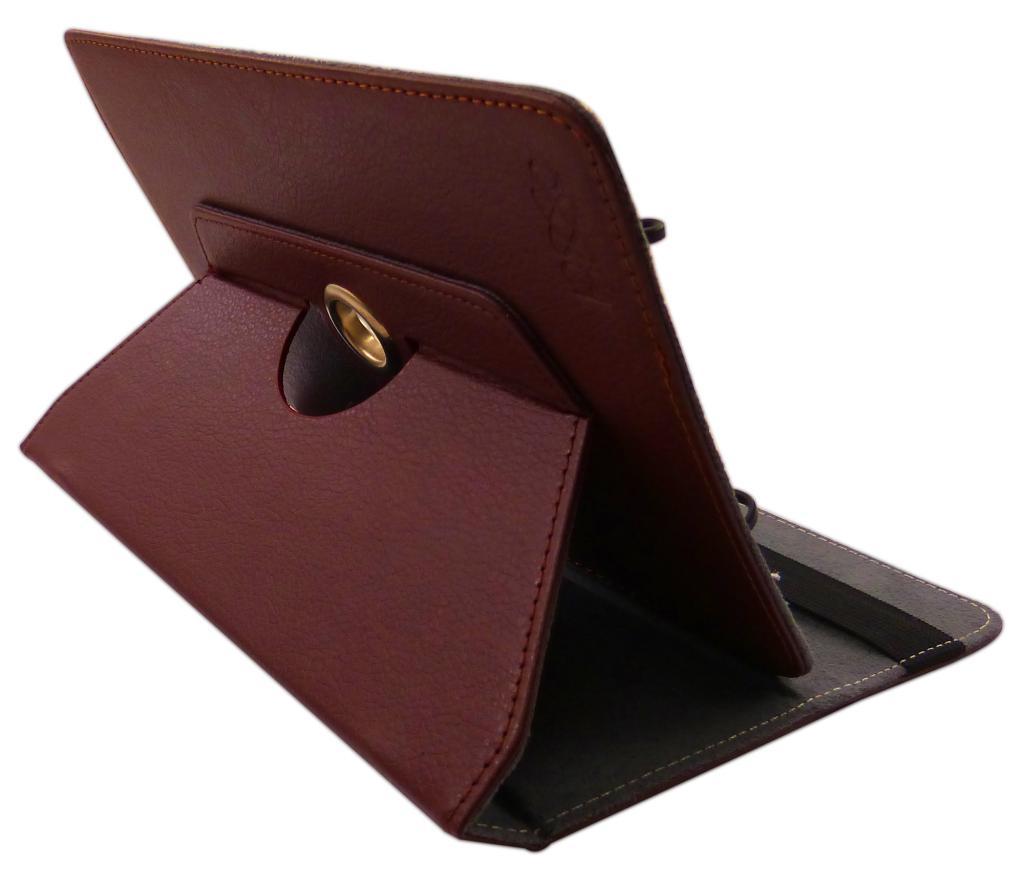 Capa Case em Couro Marron Para Tablet e Ipad 7 a 8 Polegadas Pixxo FC1161MPEM