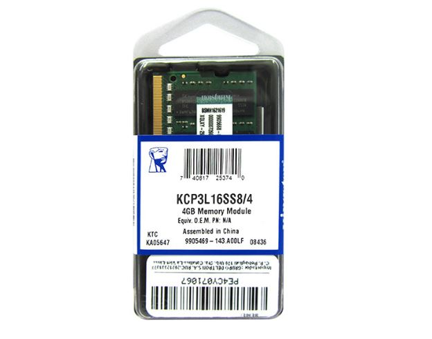 Memória 4GB Kingston DDR3L 1600Mhz Note KCP3L16SS8/4 Proprietária