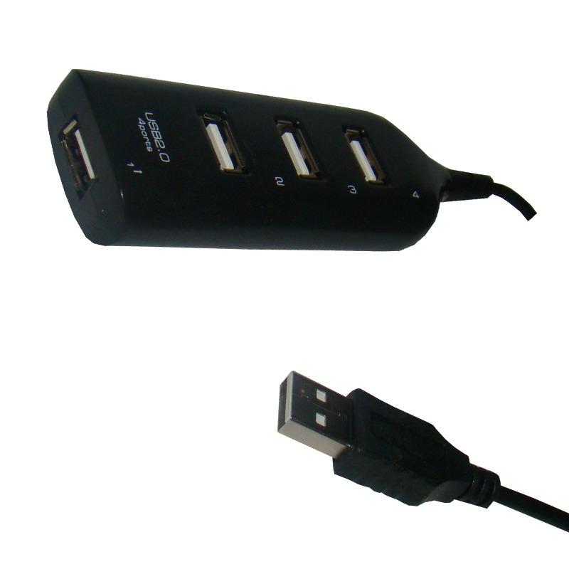 Hub USB 2.0 4 Portas Plug and Play DEX 1260 Preto