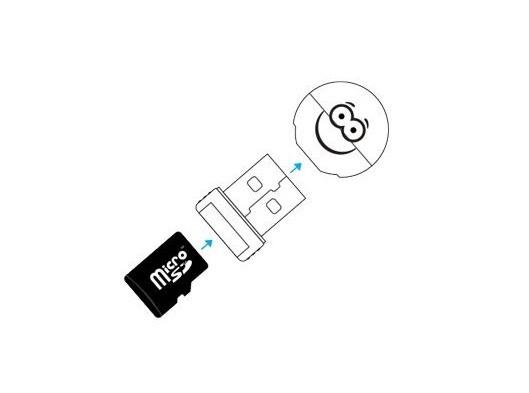 Leitor De Cartão De Memória Micro Sd Usb Serve Como Chaveiro Comtac 9204 R.02