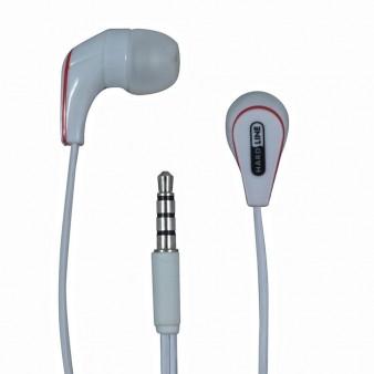 Fone de Ouvido Auricular Branco P2 com Microfone no Cabo HardLine HL-ER001